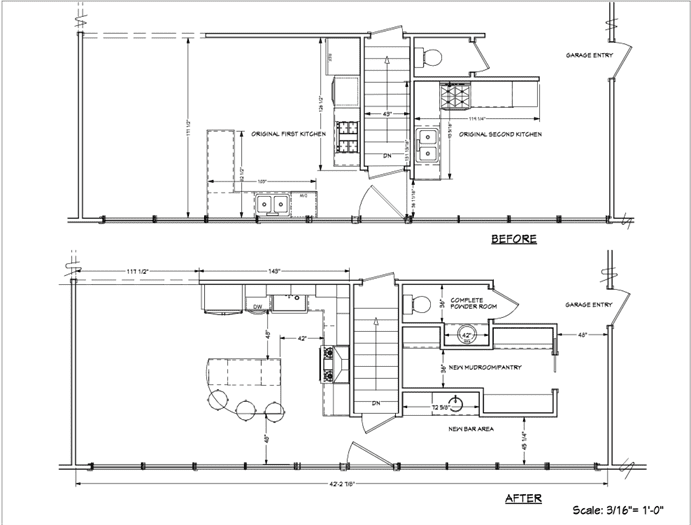 lamantia kitchen renovation blueprint