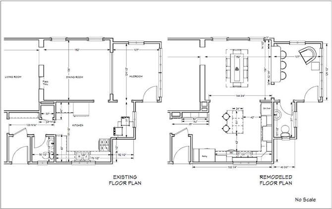 Floor plan to create an open concept first floor
