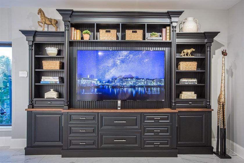 home remodeling black entertainment center