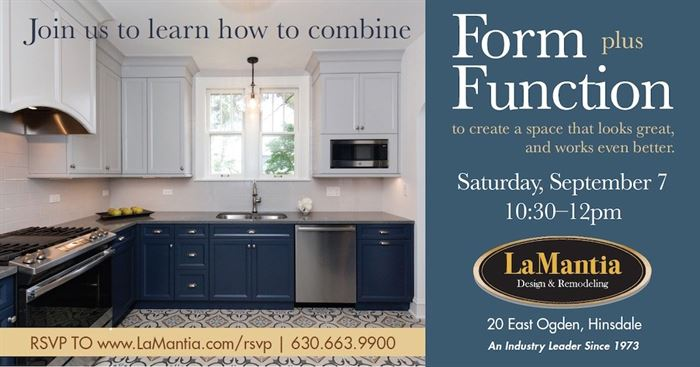 Flyer for a home improvement workshop in Hinsdale, IL