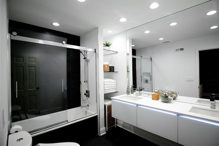 Modern European-inspired bathroom remodel