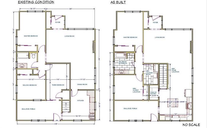 First floor home updated floor plan for home remodel