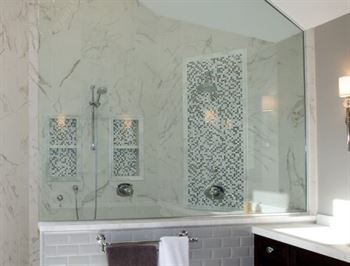 His and hers shower in master bathroom