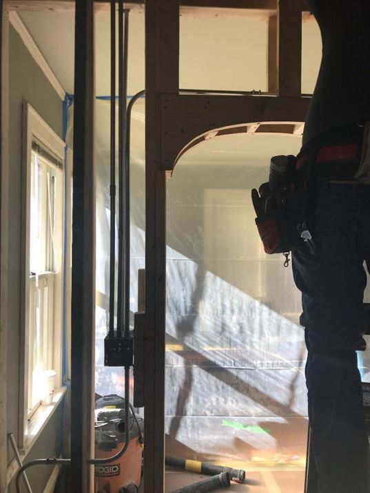 Building an archway into a new kitchen